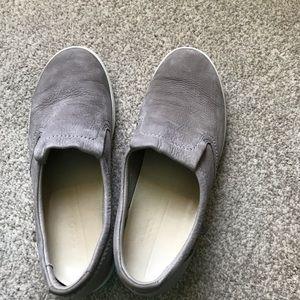 Ecco Gray Suede shoes